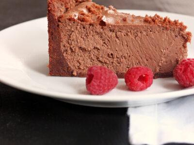 Chocolate Cheesecake Slice