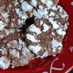 Chocolate Mint Snow Top Cookies - These double chocolate cookies are flavored with mint and rolled in powdered sugar. The result is a chocolate mint dessert that resembles a mountain top of snow.