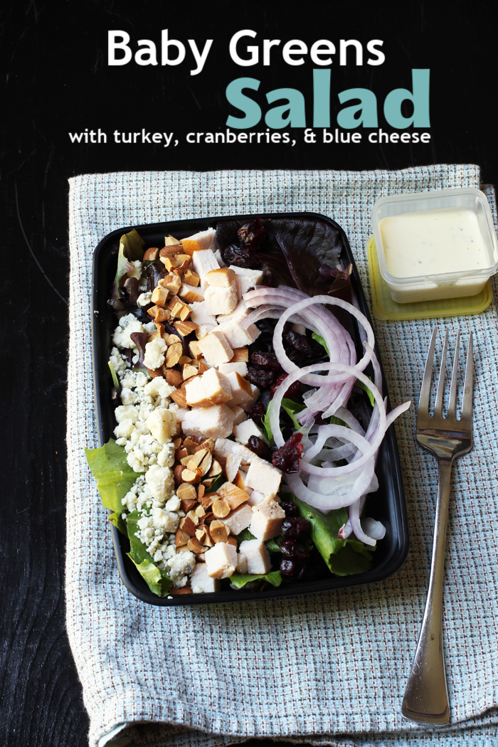 Salad with Blue cheese in meal prep box