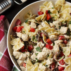Chicken and Bowties Pasta with Sage and Nutmeg