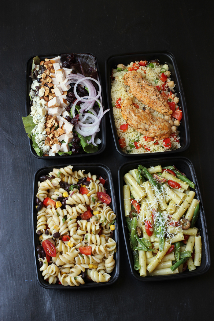 salads in to go boxes