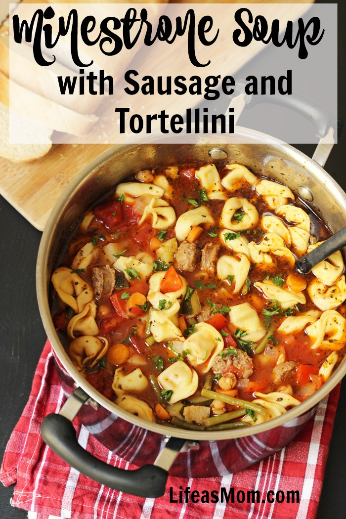 Minestrone Soup with Sausage and Tortellini | Life as Mom