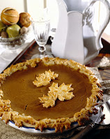 Pumpkin Pie with Pastry Leaf Crust --- Image by © Royalty-Free/Corbis