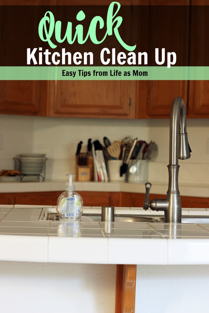 Easy Tips for Quick Kitchen Clean Up | Life as Mom