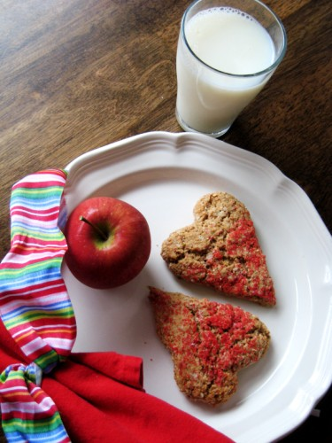 Maple-Oat Heart Scones