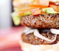 Beefburger --- Image by © Royalty-Free/Corbis