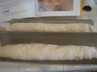 shaped baguettes on baguette pan