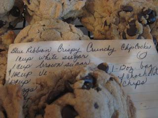 Blue ribbon chocolate chip cookie recipe