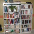 clean bookshelves