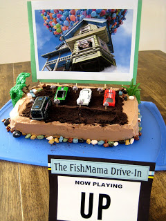 Pleasing Drive In Movie Theatre Birthday Cake And Birthday Cake Round Up Funny Birthday Cards Online Alyptdamsfinfo