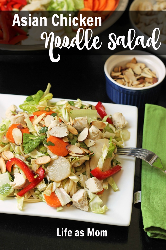 Asian Chicken Noodle Salad | Life as Mom