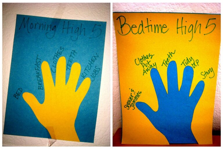 Kids, Chores, and Routines – Give them a High Five!