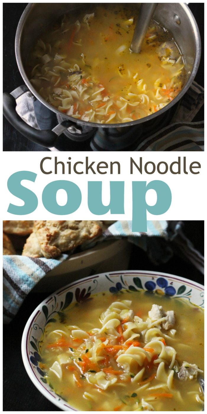 pinnable image of chicken noodle soup
