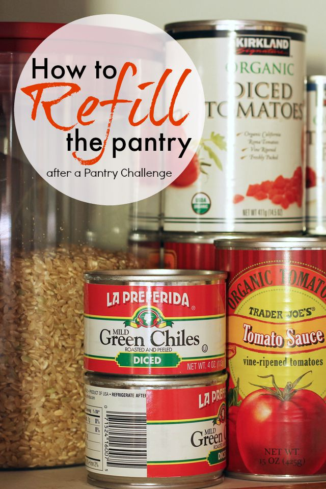 How to Refill the Pantry after a Pantry Challenge | Life as Mom