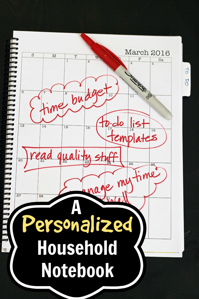 Personalized Household Notebook – Doing It My Way
