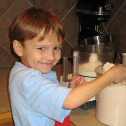 kid in kitchen