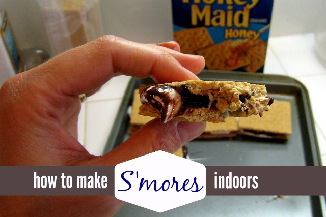 How to Make S'mores Indoors - You can make s'mores in rain or shine with this easy recipe. It's so quick, you'll have chocolate on your face in about five minutes.