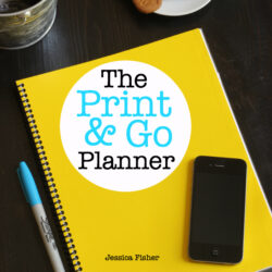 Organize with the Print & Go Planner