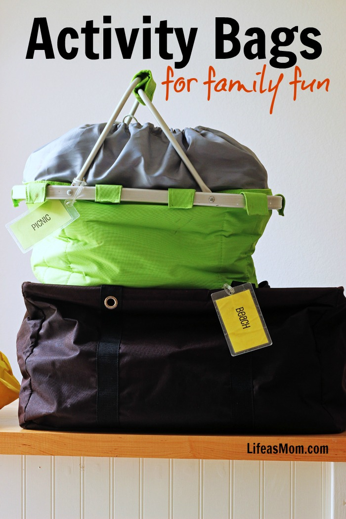 Activity Bags for Family Fun | Life as Mom