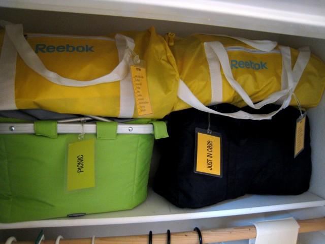 Bags on Shelf