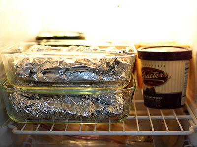 Foil wrapped meal