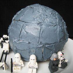 A Death Star Birthday Cake