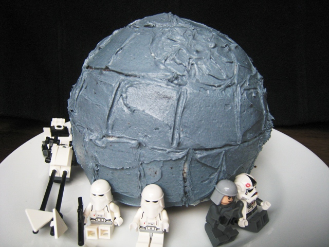 A Death Star Birthday Cake