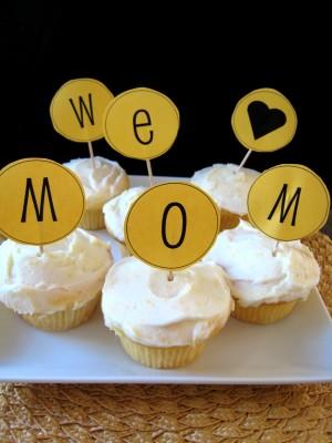 Love Mom Cupcakes