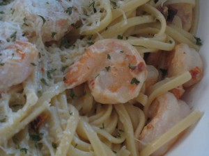 Shrimp with Cream Sauce