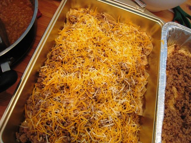 unbaked pan of lawnmower taco