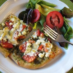 Pesto Pizza with Feta 2