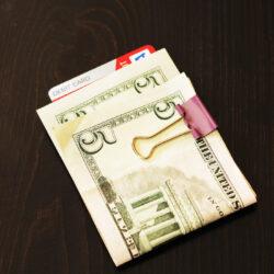 money and debit card