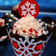 Brownie Candy Cane Cupcake