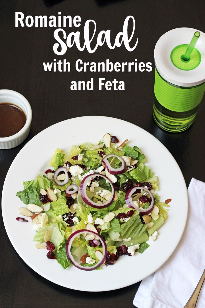 Simple Romaine Salad with Cranberries & Feta | Life as Mom