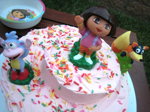 Super Dora The Explorer Birthday Cake Funny Birthday Cards Online Alyptdamsfinfo