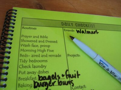 Make a Household Notebook
