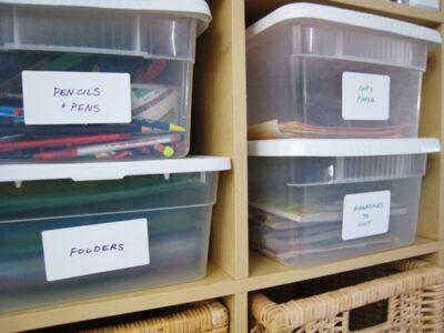 Plastic Boxes Organize Our Stuff