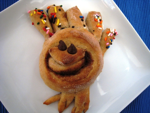 Turkey Shaped Cinnamon Rolls | Life as MOM - Homemade cinnamon rolls take on a new twist when they're shaped as turkeys! Make these with your kids and you'll have a wonderful family tradition.