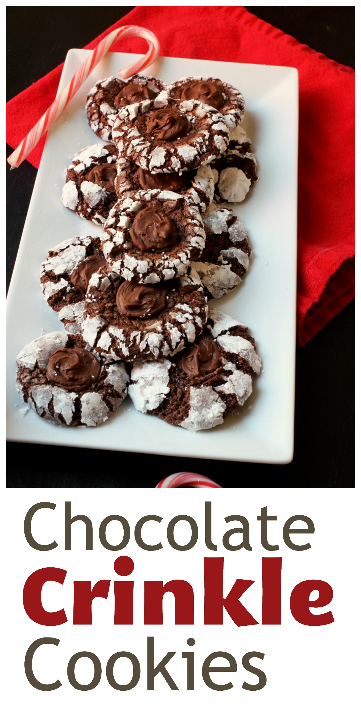 Chocolate Crinkle Cookies | Life as Mom