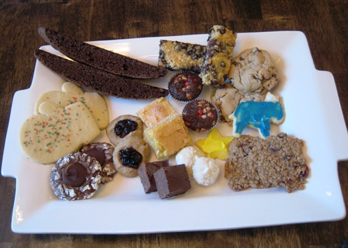 different kinds of christmas cookies on a plate