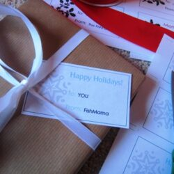 Christmas wrappings with printable tags