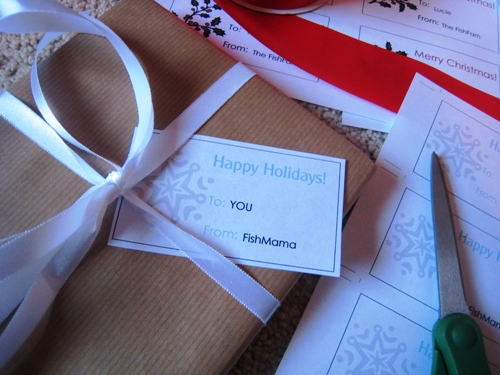 Get Wrapping with Free Printable Gift Tags