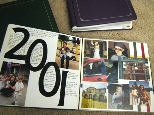 Create a Memory Page for the Old Year