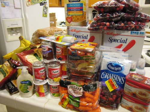 ralphs grocery haul on counter