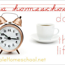 A Day in My Life as a Homeschool Mom