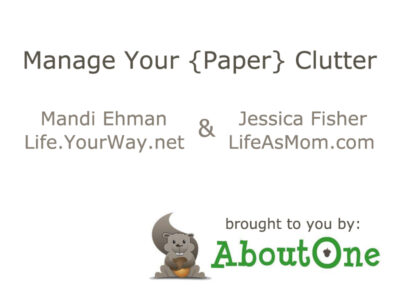 Manage Your Paper Clutter: Organizing Paper Files