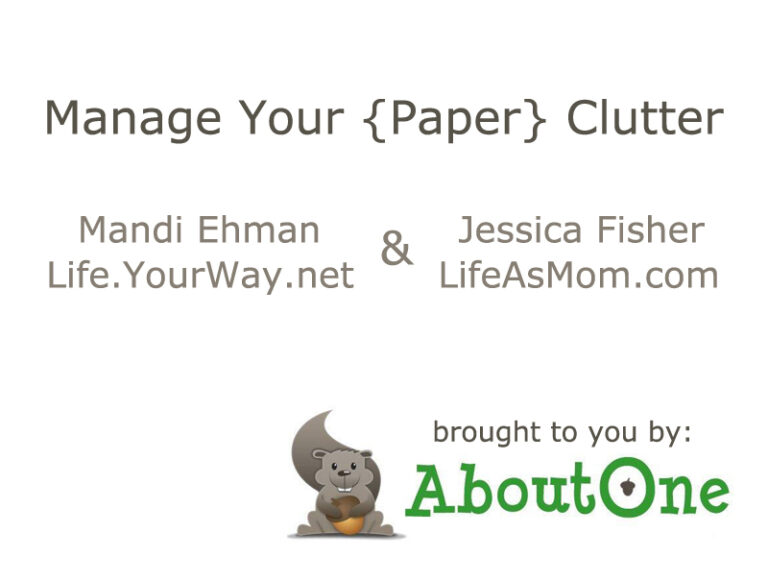 Manage Your Paper Clutter