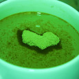 green tea heart pink sherbet