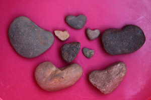 heart rocks pink sherbet