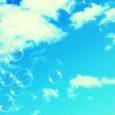 pink sherbet bubbles sky
